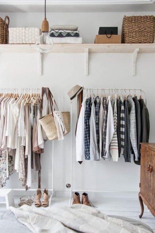 Nguyên tắc là để quần áo ở trên móc