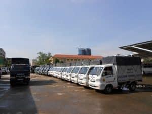 đội ngũ xe taxi tải Dịch Vụ Dọn Nhà
