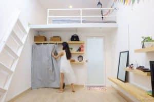 Sắp xếp những vật dụng nội thất gọn gàng trong nhà trọ