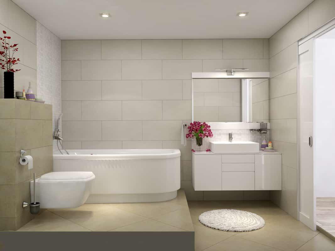 Không gian trong nhà vệ sinh đẹp
