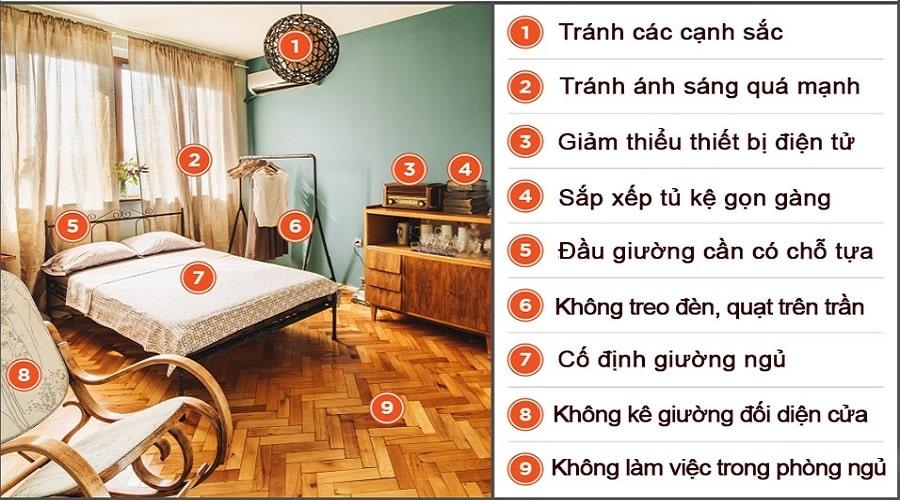 Những kiêng kỵ phong thủy trong phòng ngủ