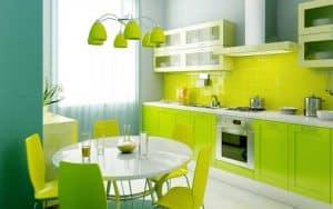 màu sắc trong nhà bếp
