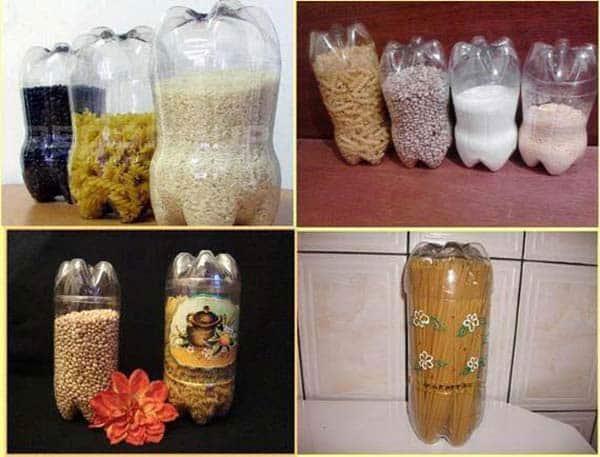 Tái chế chai nhựa dựng đồ