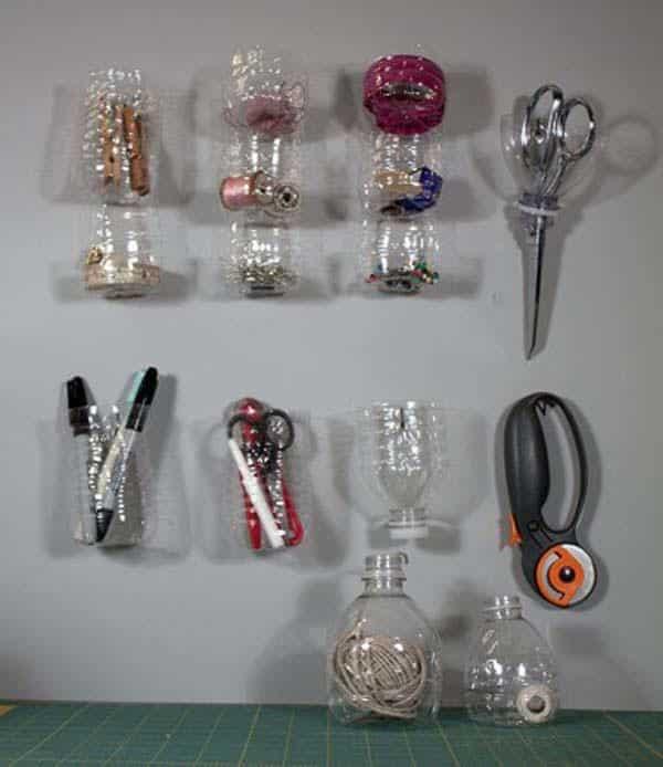 Tái chế chai nhựa thành những đồ dùng trong nhà