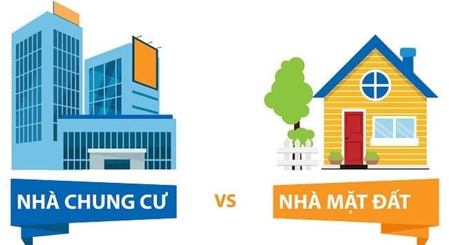 Sự khác biệt giữa chung cư và nhà mặt đất