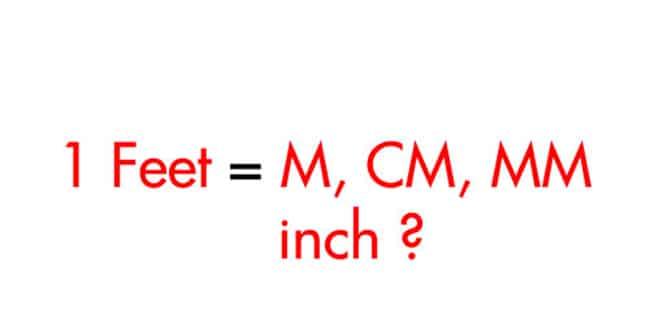 1 feet sẽ bằng bao nhiêu m