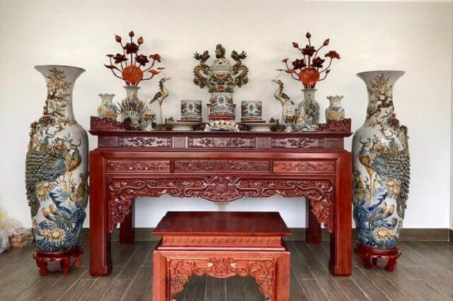 Kích thước bàn thờ gia tiên