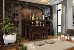 Kích thước bàn thờ Phật tại gia