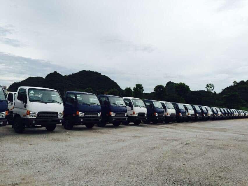 Hệ thống cho thuê xe tải vận chuyển đa dạng nhiều chủng loại khác nhau