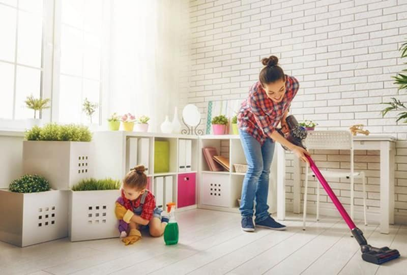 Dọn dẹp nhà cửa giúp giảm cân hiệu quả