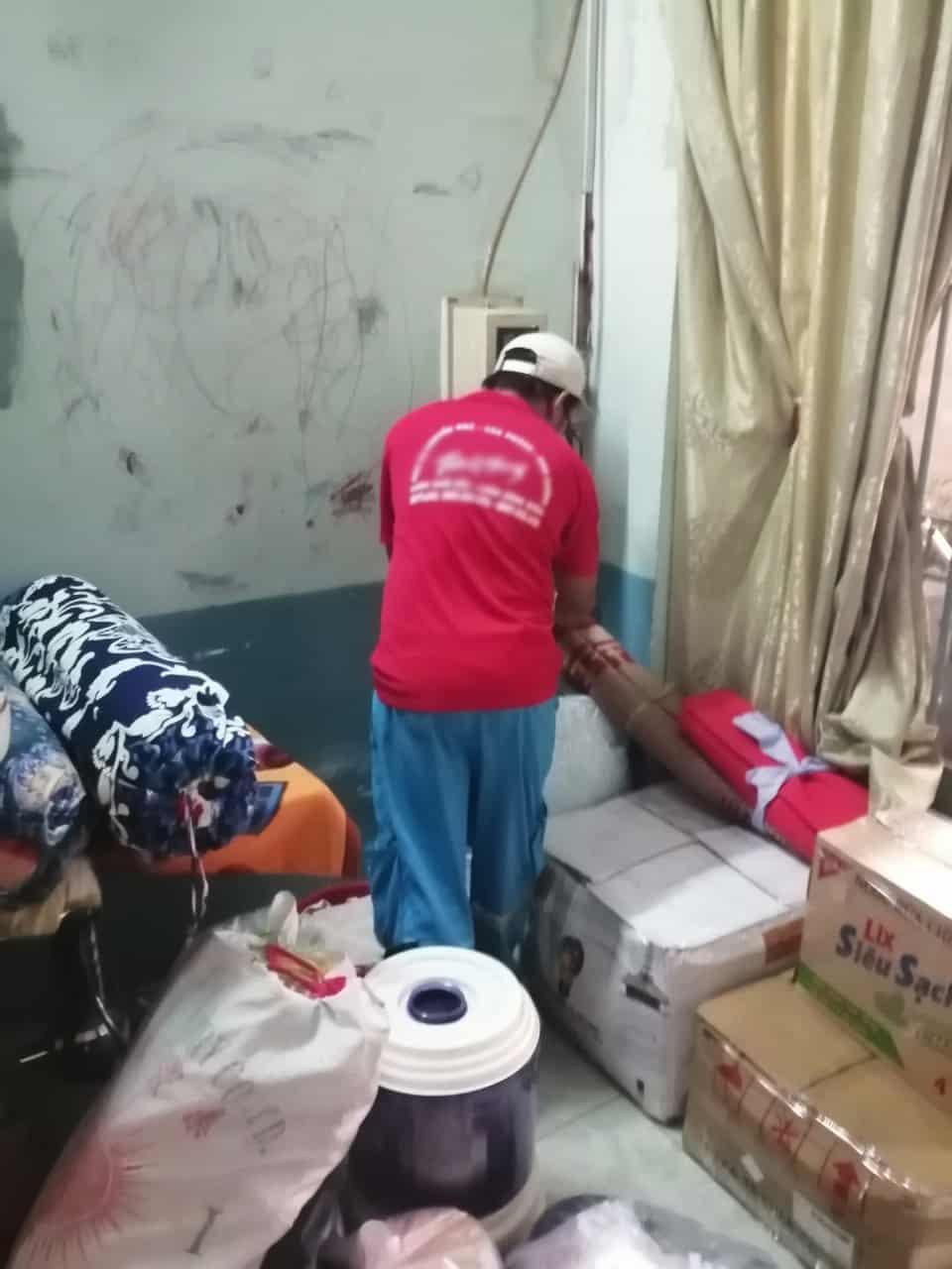 đội ngũ nhân viên của dịch vụ dọn nhà