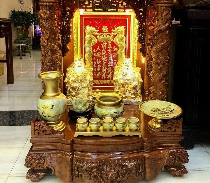 Ý nghĩa lập bàn thờ thần tài thổ địa