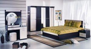Bố trí gương/ bàn trang điểm trong phòng ngủ
