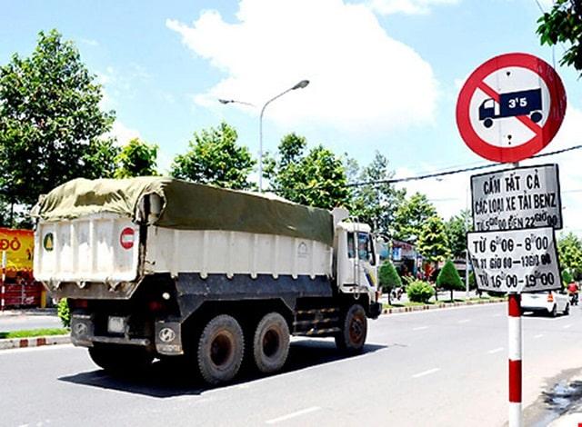 Quy định giờ cấm tải trong nội thành tphcm với các loại xe tải