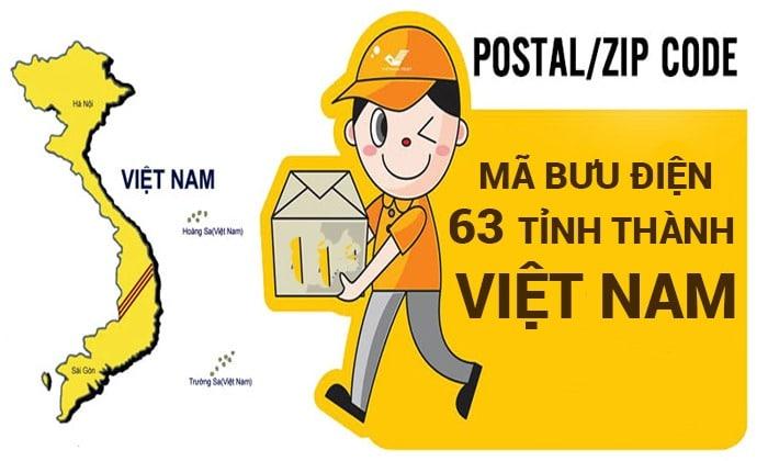 mã zipcode các tỉnh thành Việt Nam
