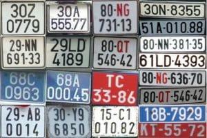 Phân loại biển số xe
