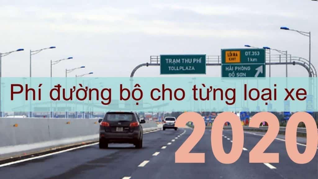 Phí bảo trì đường bộ 2020