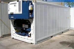 Container 20 feet chở hàng đông lạnh