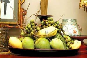 Mâm trái cây trong việc cúng khai trương cửa hàng