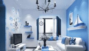 Màu phòng khách của người mệnh thuỷ