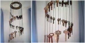 Chuông gió bằng chìa khoá