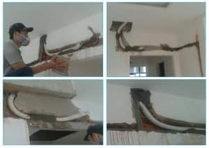 Quy trình lắp ống đồng máy lạnh âm tường