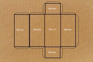 Đo kích thước của hộp giấy