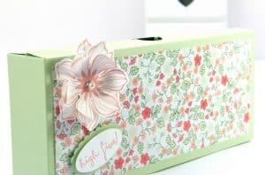 Làm thùng carton thành hộp quà có nắp liền hình chữ nhật