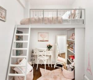 Bạn cũng nên tận dụng tầng lửng để làm không gian ngủ