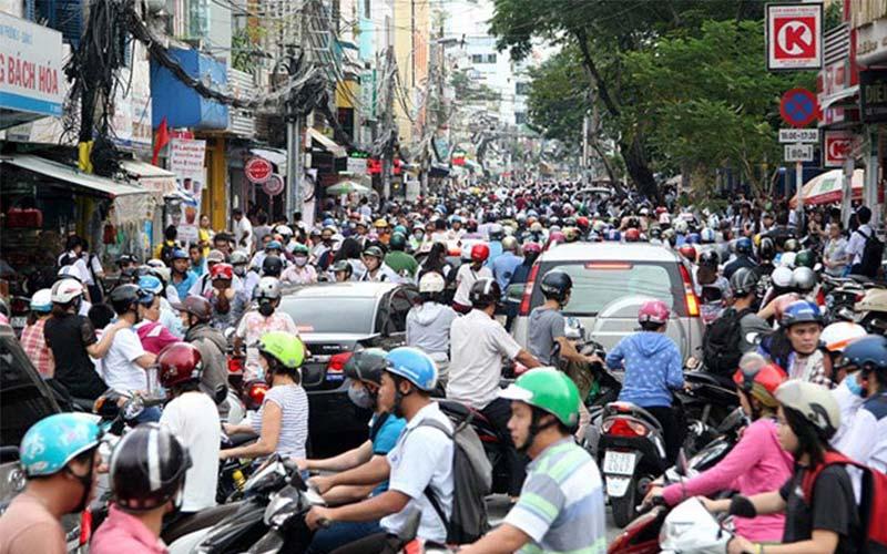 Tuyến đường kẹt xe ở Sài Gòn