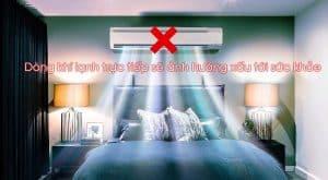Không nên đặt máy lạnh ở đầu giường