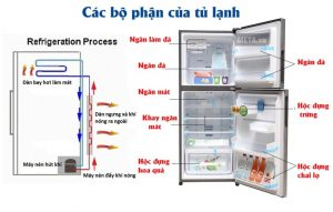 các bộ phận chính của tủ lạnh